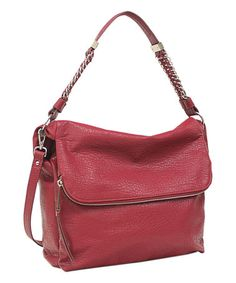 Red Lulu Convertible Shoulder Bag by Jessica Simpson Collection #zulily #zulilyfinds