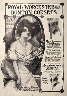 1903 Royal Worcester & BonTon Corsets Ad