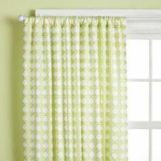Lattice Curtain Panels (Green)  | The Land of Nod