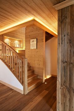 Ski resort chalet - eclectic - staircase - other metro - by MCM Designstudio