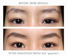 Anastasia Brow Wiz Eyebrow Pencil in 'granite' is a great match for black Asian eyebrow hair.