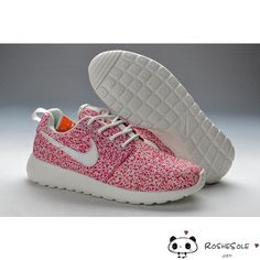 Nike Roshe Run Womens Sail Pink White Shoes