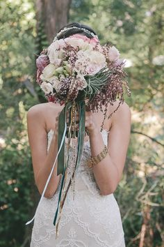 Bohemian Southern California wedding   Photo by Dear to my Art   Read more - http://www.100layercake.com/blog/?p=66684