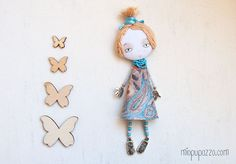 Romantic Girl Art doll brooch Personalized gift for by miopupazzo