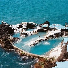 F A V O U R I T E 5: Swimming Pools - Portuguese village Porto Muniz, Madeira, boasts natural bathing pools enclosed by lava rocks that are filled with clear water by the tide. Stay tuned for more fantasy pools this week. #hohfavourite5 #destination #travel #portugal #madeira #portomuniz #houseofhackney