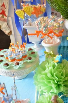 Apaixonada por esta Festa Fundo do Mar!!!Venha se apaixonar com estas lindas ideias.Imagens do Idealizando.Lindas ideias e muita inspiração.Uma semana maravilhosa para todo mundo.Bjs, Fabíola Te...