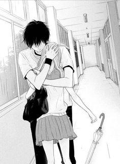 Anime Couple :: Manga ::《Im sorry, please don't go! Manga Couples, Romantic Anime Couples, Romantic Manga, Anime Couples Drawings, Cute Anime Couples, Anime Couples Hugging, Manga Anime, Comic Manga, Art Anime