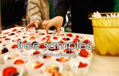 yes! I love samples when it's fruit or something refreshing! Like pineapple or watermelon !