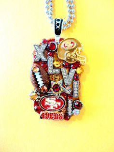 San Francisco 49ers Superbowl XLVII Dog Tag Pendant by BradosBling, $39.99