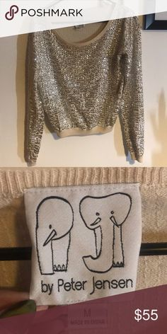 By Peter Jensen M cream sized sequins sweater By Peter Jensen M cream sized sequins sweater Sweaters