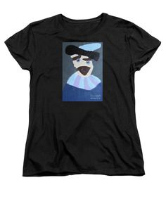 Patrick Francis Women's Black Designer T-Shirt featuring the painting Young Rembrandt In A Plumed Hat 2014 - After Rembrandt by Patrick Francis