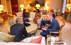 Here's the Drawing Room of Apartment 1A, where the Duke and Duchess of Cambridge and Prince Harry me... - PA