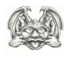 gargoyle tattoo patterns | View More Tattoos Pictures Under: Fantasy Tattoos