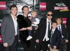 Musician Lars Ulrich (3rd R) of Metallica and family attend the 24th Annual Rock and Roll Hall of Fame Induction Ceremony at Public Hall on April 4, 2009 in Cleveland, Ohio.  (Photo by Michael Loccisano/Getty Images) *** Local Caption *** Lars Ulrich