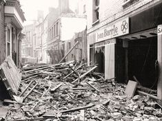 City centre redevelopment: demolition work in Petty Cury in 1972, in preparation for Lion Yard