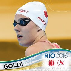GOLD MEDAL ALERT: Canada's Aurelie Rivard wins her 3rd medal and 2nd gold at #Rio2016 after winning the 100m FS S10. Rivard broke her own Paralympic record clocking in at 59.31