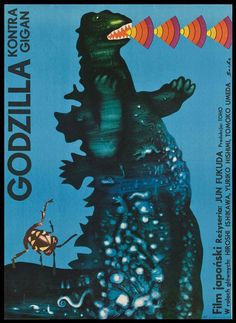 Vintage Polish Posters | Great vintage posters made in Poland for the movie Godzilla. Via ...