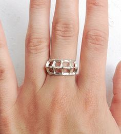 Silver Cage Fighter Ring | Jewelry Rings | Kemi Gadaleta | Scoutmob Shoppe | Product Detail