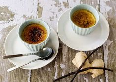 Flan Custard with Cheese and Ginger