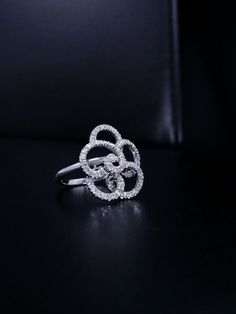 Solid 14k White Gold Natural Diamond .50 ct Round Cut Ring  #GDD #Cocktail
