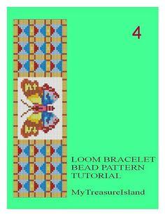 Telar de cordón mariposas motivos 1 2 3 4 5 pulsera patrón