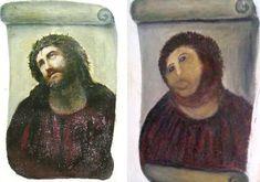 Elías García Martínez, Ecce Homo (1930), and Cecilia Giménez's infamous 2012 restoration attempt.