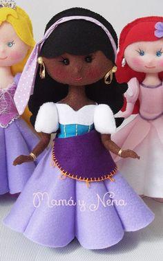 Princesa Esmeralda em Feltro