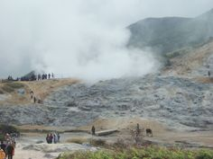 the crater there