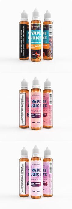 E Liquid Label Design Vaping