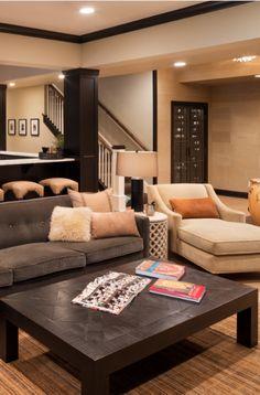 33 Basement Lighting Ideas | Sebring Design Build Wet Bar Basement, Basement Bar Designs, Rustic Basement, Modern Basement, Basement Finishing, Basement Ideas, Small Basements, Finished Basements, Wet Bar Designs