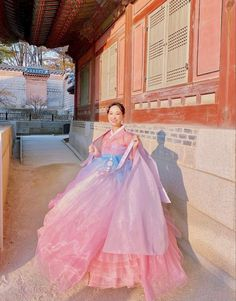 Korean Traditional Dress, Traditional Dresses, Korean Fashion Dress, Fashion Dresses, Korea Dress, Puffy Dresses, Korean Hanbok, Cute Korean, Hanfu
