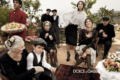 Monica Bellucci, Bianca Balti & Bianca Brandolini для Dolce & Gabbana Fall Winter 2013  Peple of different ages make the pix more real