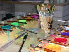 Malen macht das Leben bunter - Malfreude Bunt, Palette, Joy, Palette Table
