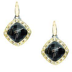 I love these black onyx and diamond drop earrings by Tacori!