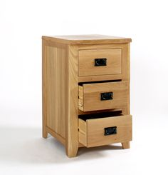Western Oak 3 Drawer Office Cabinet