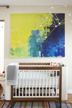 Modern Nursery Decor - Stylish Kids Rooms. Art in the baby's room.