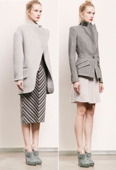 love the structured look. reminds me of victoria beckham line.