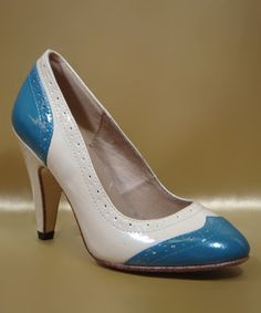 Chelsea Crew - Blue & Beige March Pump - Zulily