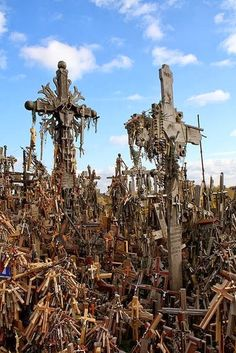 The Hill of Crosses,  Lithuania. 10 of the World's Most Scariest Places to Visit | Incredible Pictures