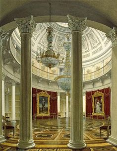 Rotonda in the Winter Palace St Petersburg, Russia Architecture Baroque, Russian Architecture, Classical Architecture, Beautiful Architecture, Ancient Architecture, Architecture Interiors, Palaces, Palace Interior, Hermitage Museum