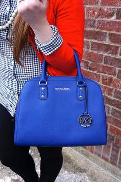 Royal Blue Michael Kors Handbag On Opal Violet I Love This Bag