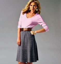 Pull-on Skirts Pattern McCall's Pattern 6654 Straight by blue510