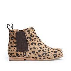 MANGO KIDS - MEISJES - Schoenen - Leren Chelsea boots met luipaardmotief