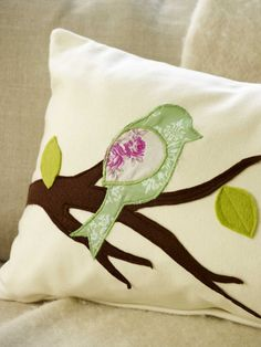These applique cushions will transform a plain cushion into a real talking point that you can co-ordinate the colours to fit with your room.