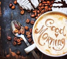Beautiful Good morning coffee images wishes and quotes share these inspirational good morning images and good morning coffee picture quotes with beloved. But First Coffee, I Love Coffee, My Coffee, Coffee Drinks, Coffee Shop, Coffee Cups, Coffee Music, Happy Coffee, Skinny Coffee