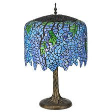 """Wisteria Tiffany 28"""" H Table Lamp with Bowl Shade"""