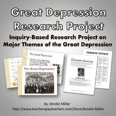 Great Depression - Research Project (Project, Rubric, PowerPoint)