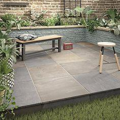 Holkham Grey Multi Outdoor Porcelain Tile 600 X - Modern Terrace Tiles, Garden Tiles, Patio Tiles, Garden Paving, Outdoor Flooring, Outdoor Tiles Patio, Porch Tile, Deck Tile, Flooring Ideas