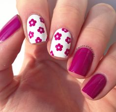 Nailpolis Museum of Nail Art | Pink Flowers by Lena