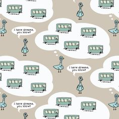 I Have Dreams... :: Mo Willems' Don't Let the Pigeon Drive the Bus for Cloud9 Fabrics